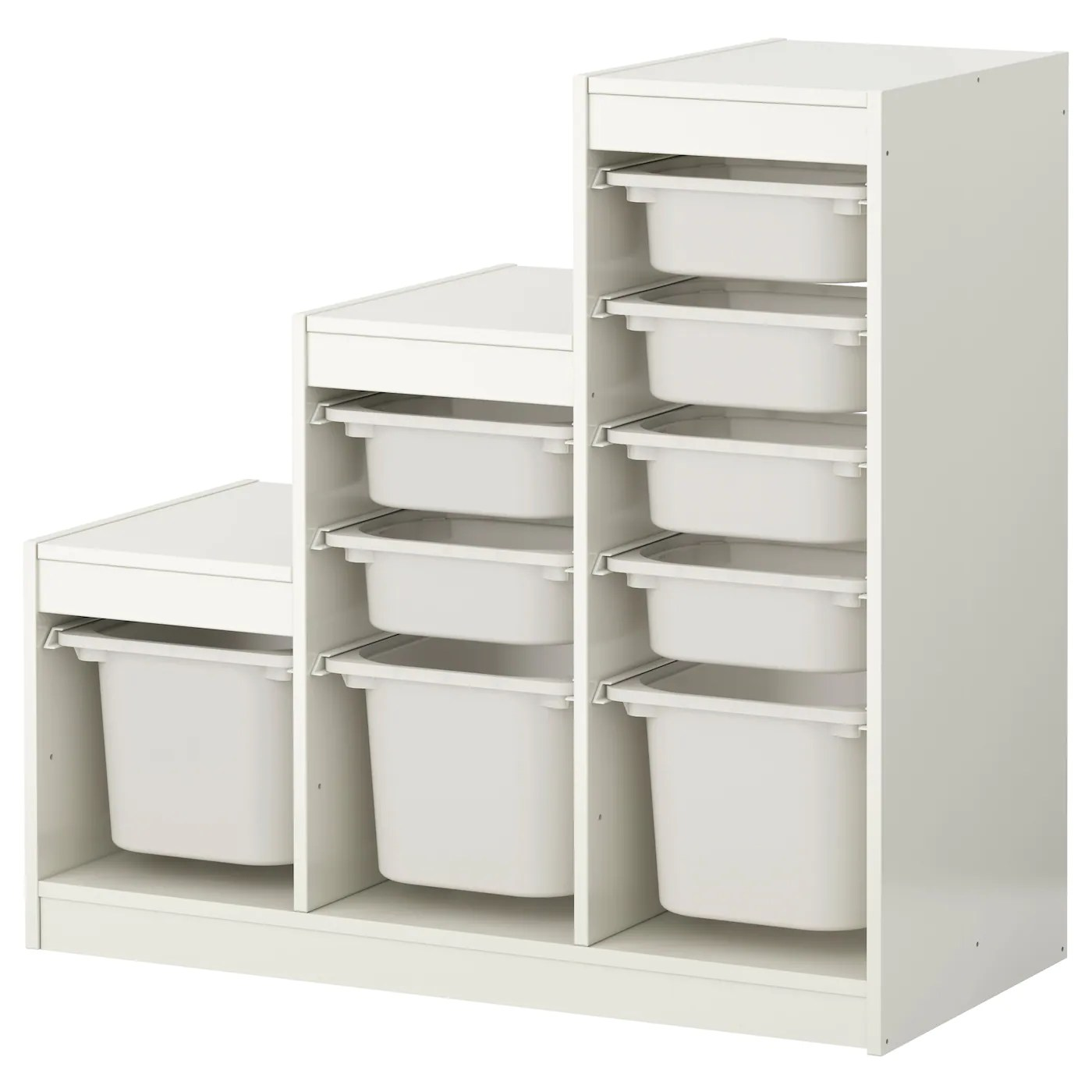 ikea childrens chair 2 tiffany blue wedding covers trofast storage combination with boxes white 99 x 44