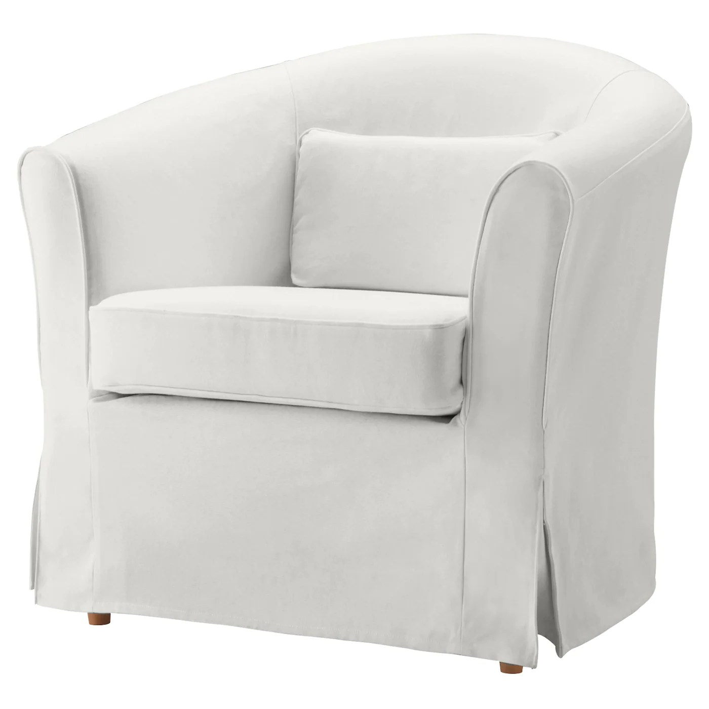 white armchair cover bedroom chair ideas tullsta blekinge ikea the included cushion can be used for lumbar support