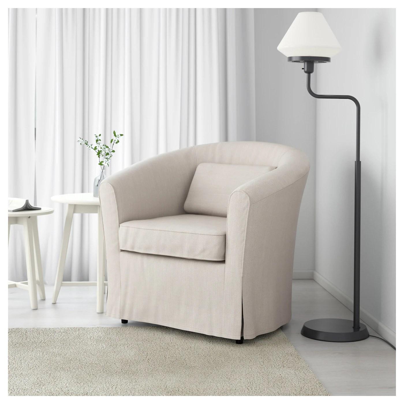 white chair covers ikea swing newborn tullsta armchair nordvalla beige
