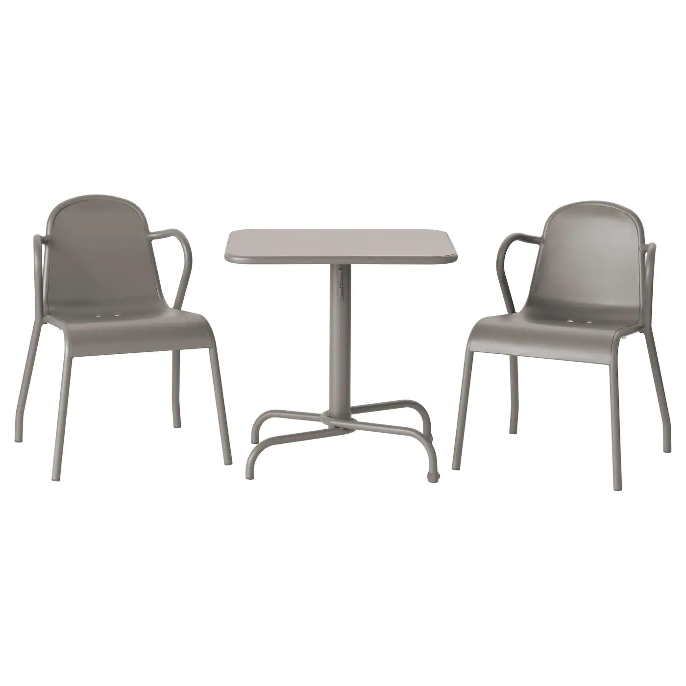 outside table and chairs for 2 purple gaming chair tunholmen 432 outdoor grey ikea