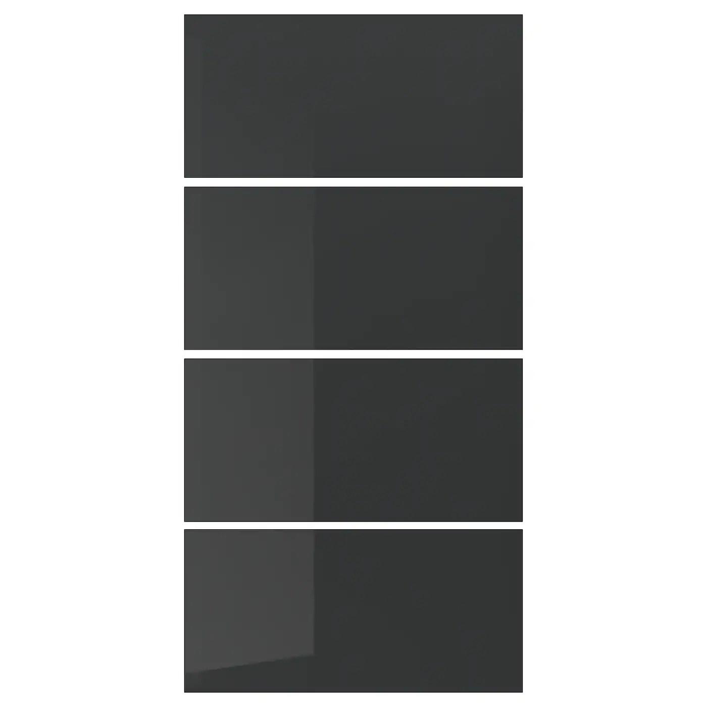 4 Panels For Sliding Door Frame Uggdal Grey Glass