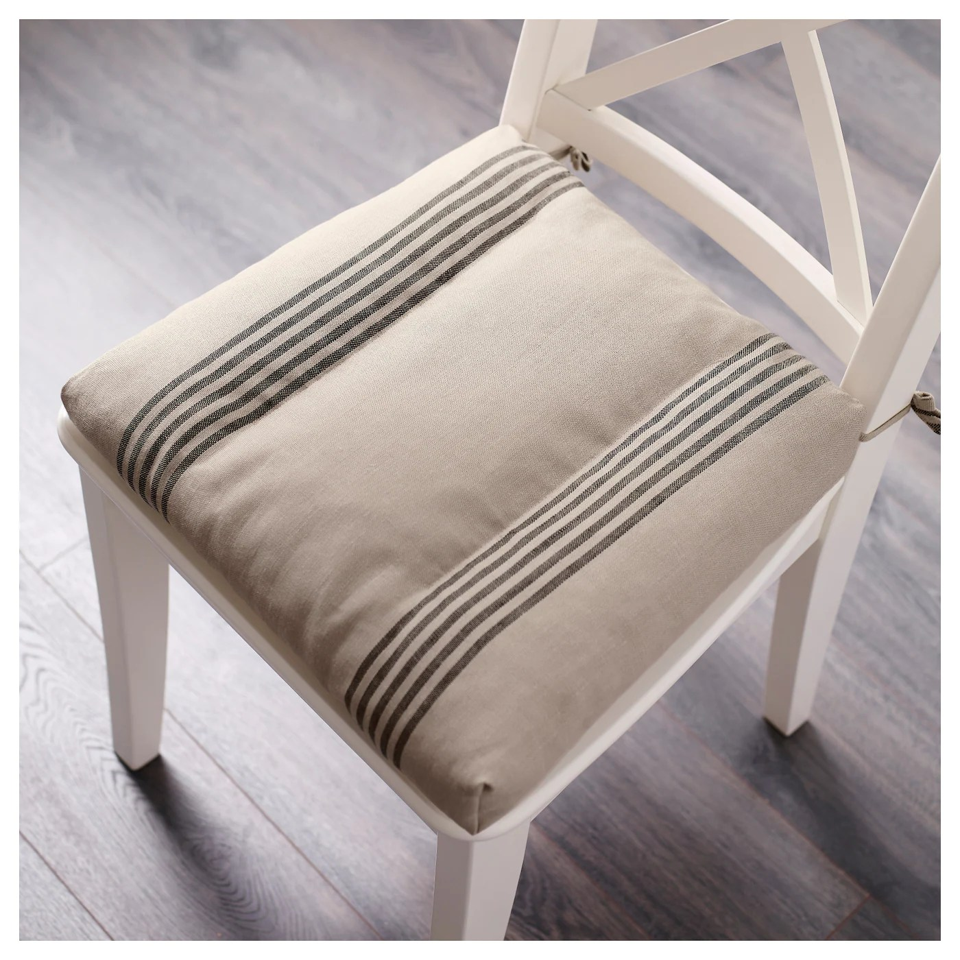 ikea chair cushions ak rocker gaming ullamaj cushion beige black 35 43 x 37 7 cm