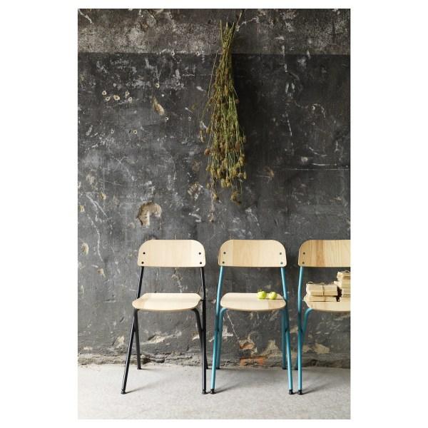 Ssad Folding Chair Blue-green Ash Veneer - Ikea