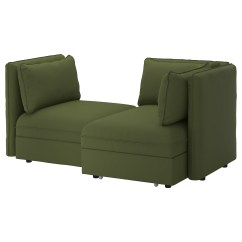 Sofa Chair Ikea Large Size Office Chairs Vallentuna 2 Seat Modular With Bed And Storage Ramna Olive