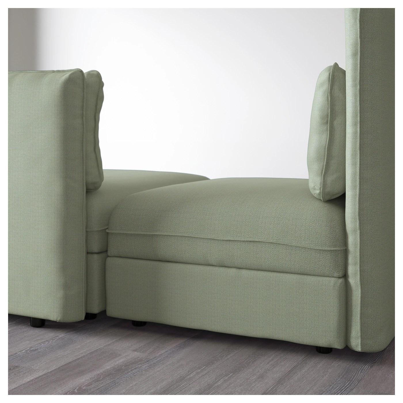 light green sofa bed waterproof mattress pad for vallentuna 3 seat with hillared ikea