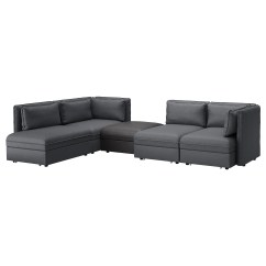 Leather Sofas Glasgow Area Sofa Couch Cheap Beds Corner Futons Ikea Vallentuna 4 Seat Modular W 3