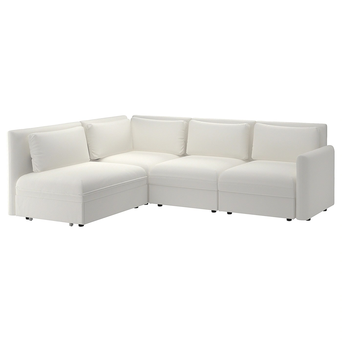 karlstad 3 seat sofa bed cover london leather company beds corner futons ikea vallentuna modular