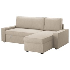 Sofa Chair Bed Ikea Target Dining Tables And Chairs Vilasund With Chaise Longue Hillared Beige