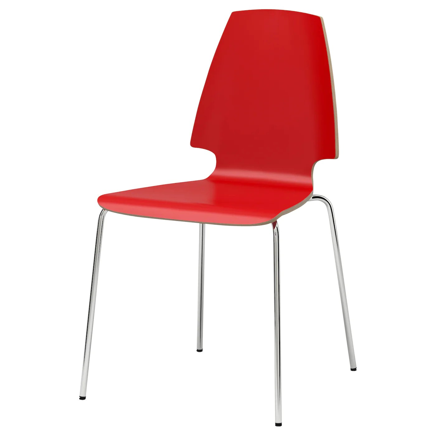 red desk chair ikea high top dining table with 4 chairs vilmar chrome plated