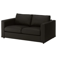 Clean Leather Sofa With Damp Cloth Round Sectional Microfiber Vimle 2 Seat Farsta Black Ikea