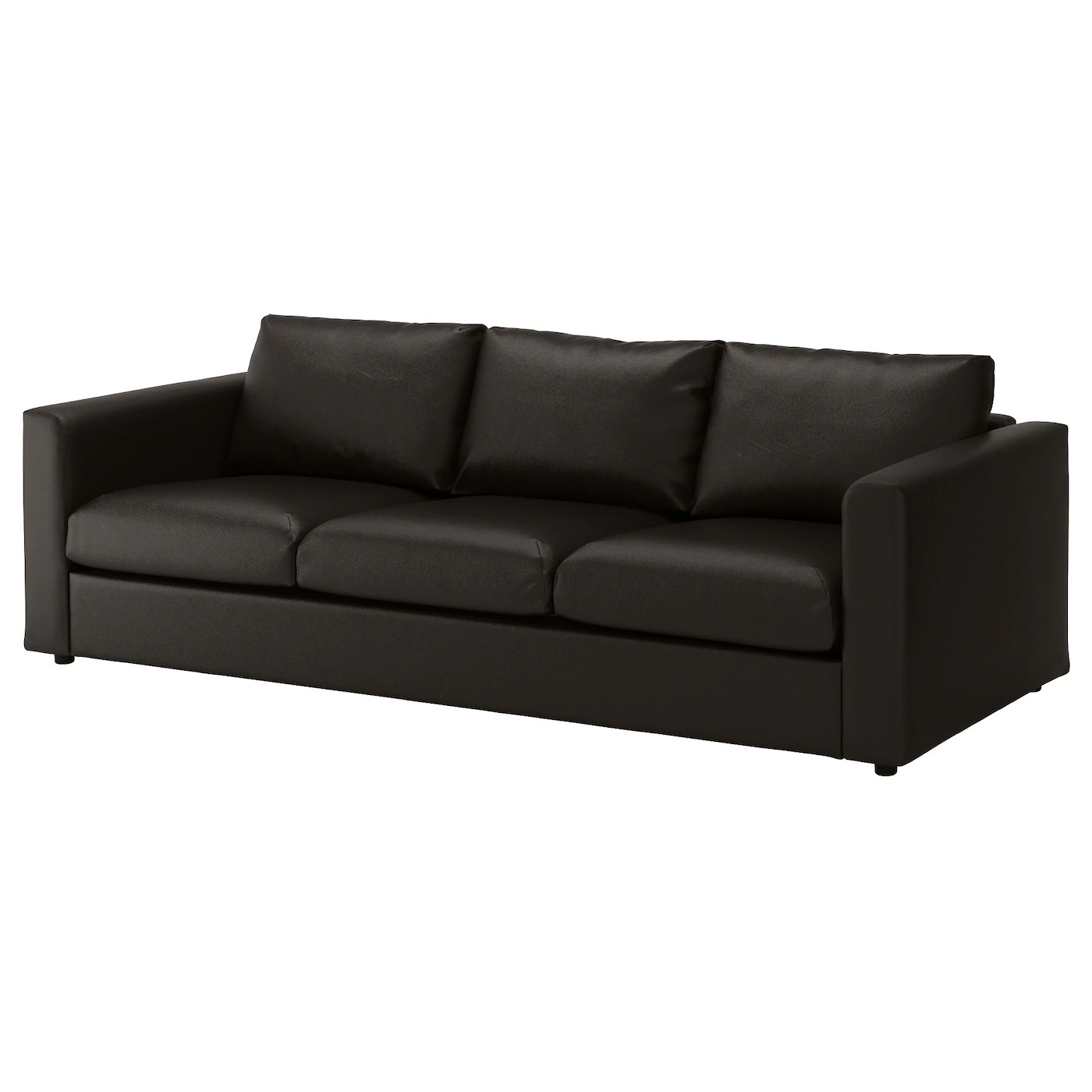 black 3 seater sofa and cuddle chair bed sale in london vimle seat farsta ikea