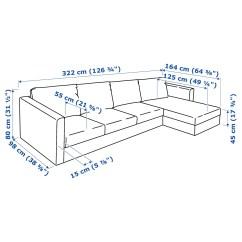 Sofa Parts Names Dfs Studio Fabric Corner Vimle 4 Seat With Chaise Longue Farsta Black Ikea
