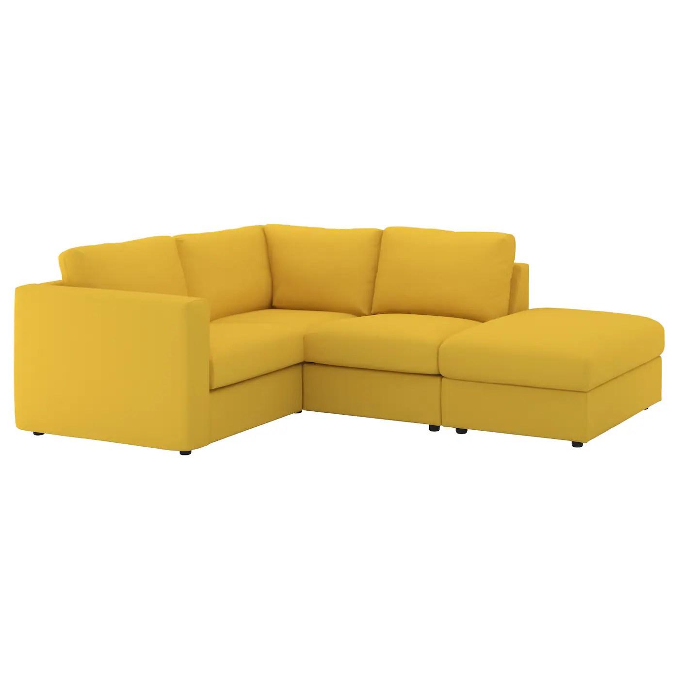 yellow sofa bed ikea backless crossword solver corner sofas