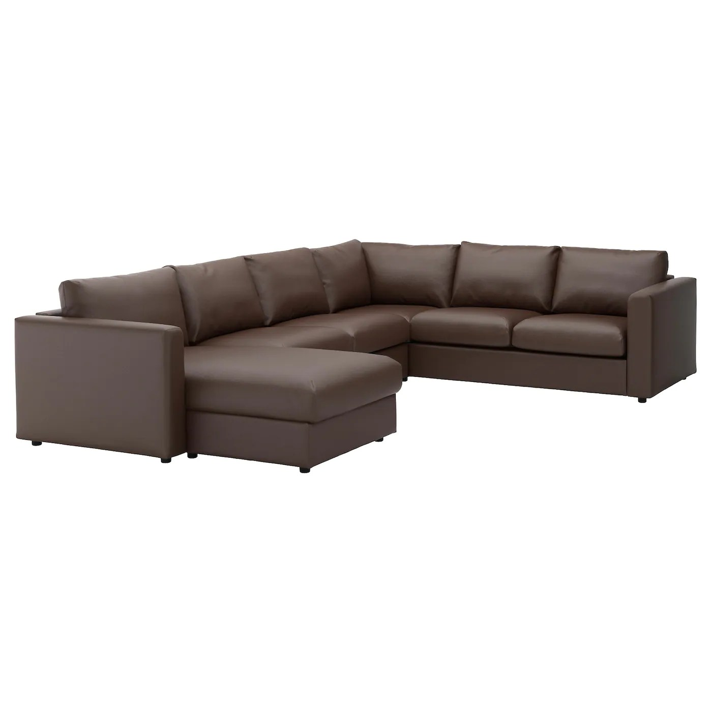 corner sofa bed chaise longue chair stuffing vimle 5 seat with farsta dark