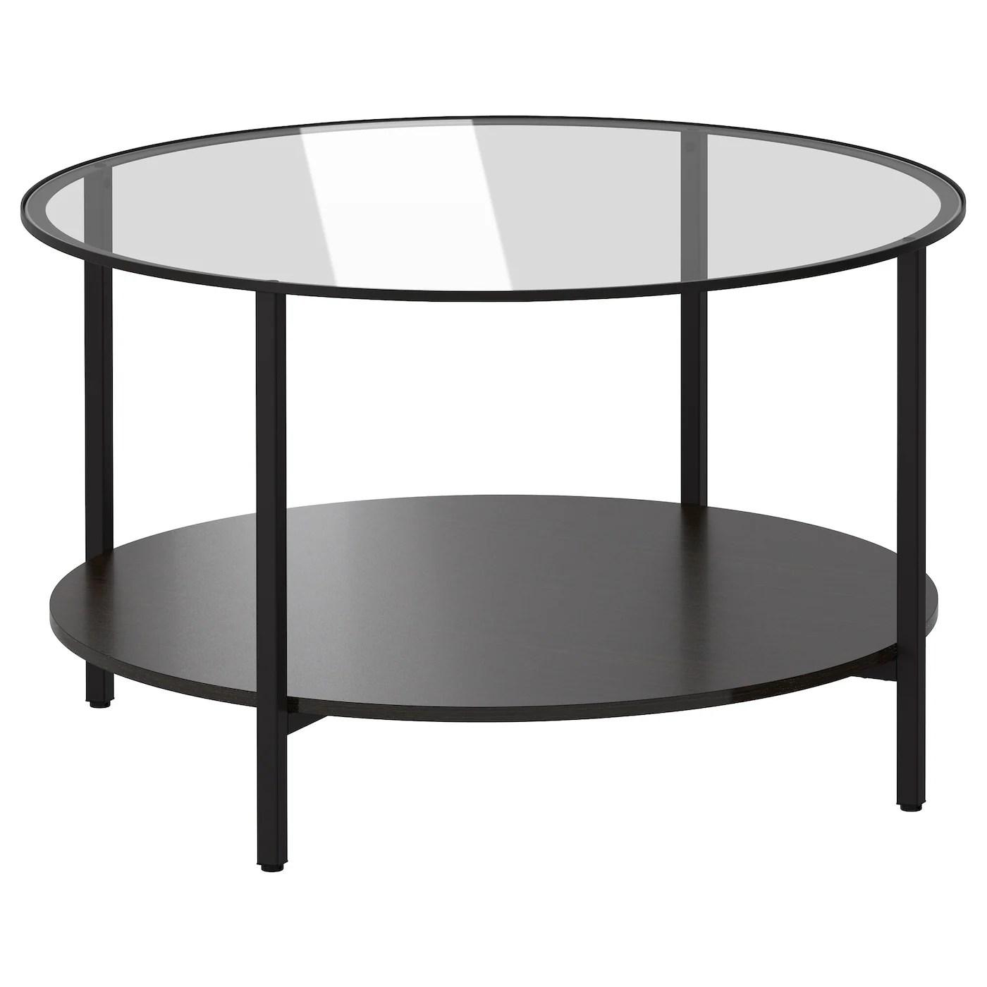 vittsjo coffee table black brown glass 75 cm
