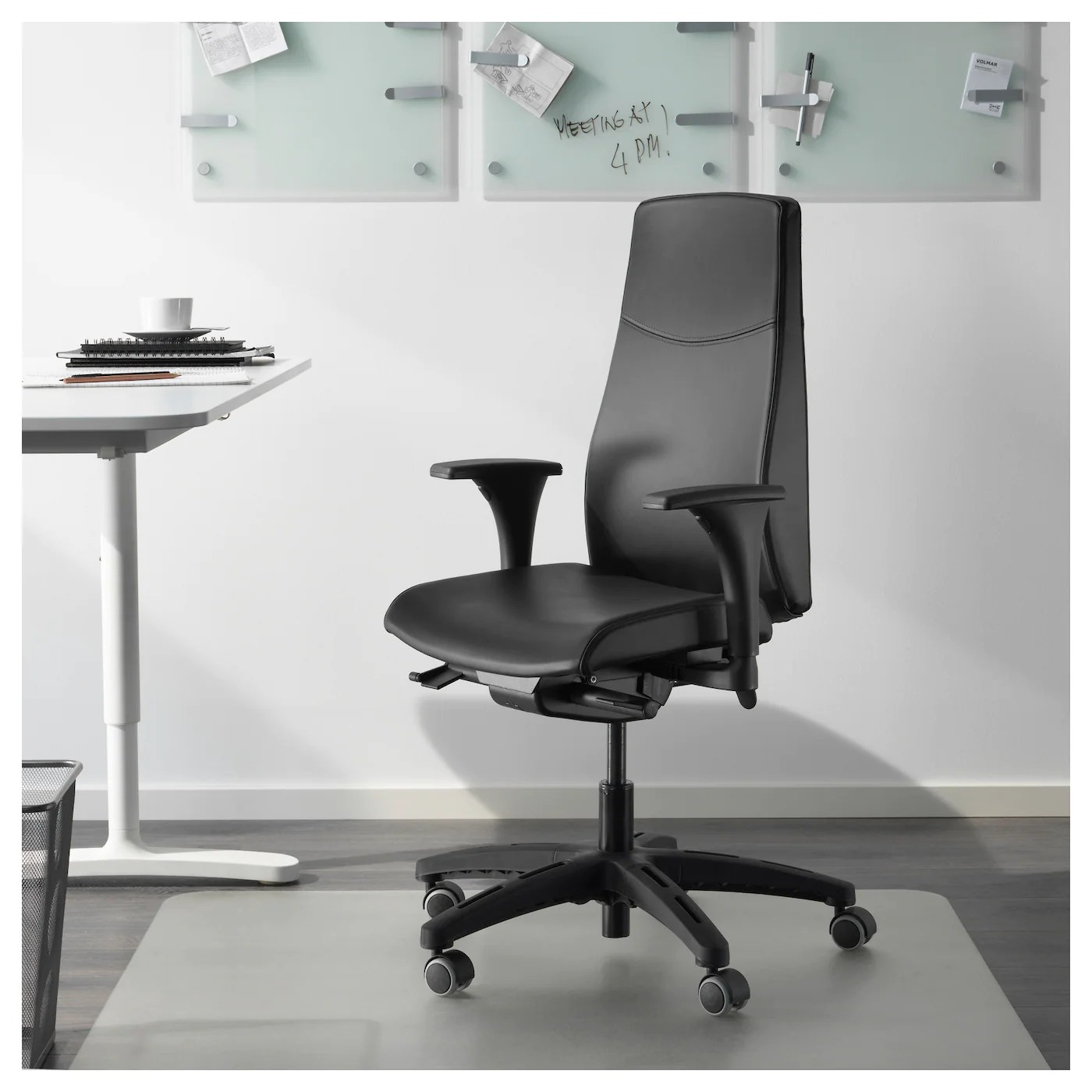 office chair covers to buy children s upholstered rocking volmar swivel with armrests mjuk black ikea