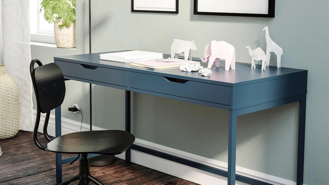 Dotata di cassetto, ripiano estraibile per tastiera e. Desks Computer Desks Affordable Modern Ikea