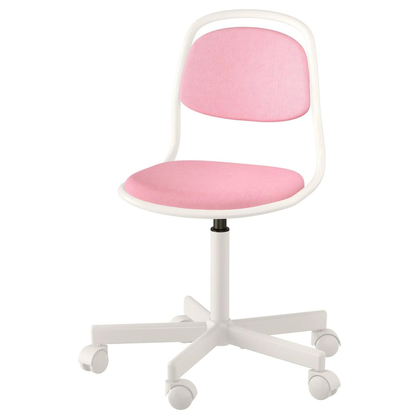 desk chair pink large round swivel ÖrfjÄll children 39s white vissle ikea