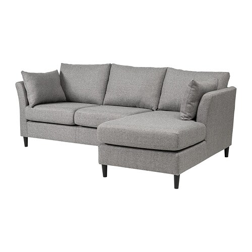 sofa w chaise bed air mattress reviews bankeryd 2 seat longue right grey ikea