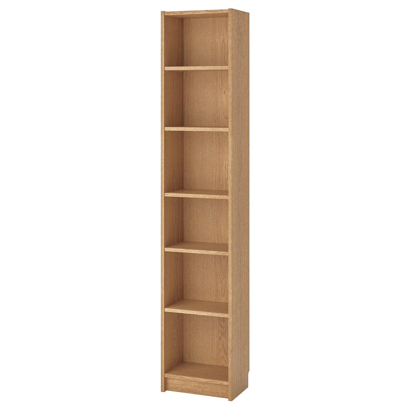 BILLY Bookcase, oak veneer, 40x28x202 cm   IKEA Ireland