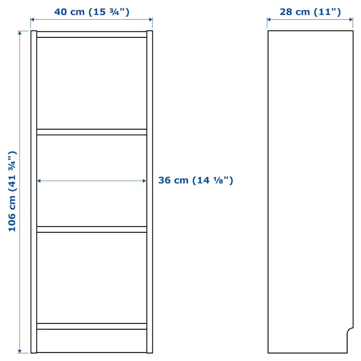 BILLY Bookcase, white, 40x28x106 cm   IKEA Ireland