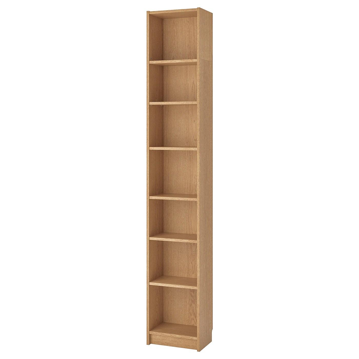 BILLY Bookcase, oak veneer, 40x28x237 cm   IKEA Ireland