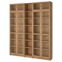 BILLY / OXBERG Bookcase, oak veneer oak, 200x237x28 cm   IKEA