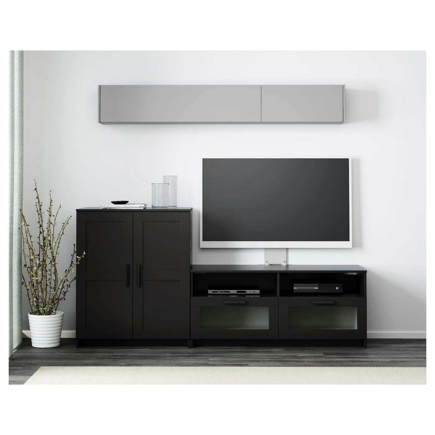 tv chair ikea windsor rocking plans brimnes storage combination black 200 x 41 95 cm