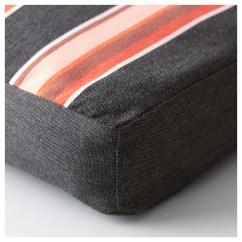 Chair Cushions With Ties Ikea Adirondack Glider EkerÖn Cushion Outdoor Black Stripe 50x50 Cm