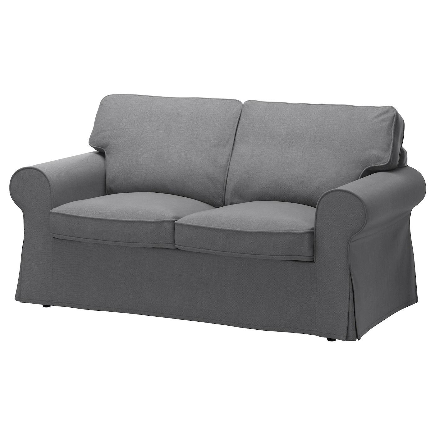 sofa 10 year guarantee floral ektorp two-seat nordvalla dark grey - ikea