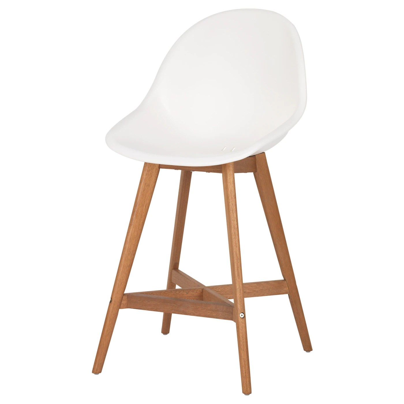 ikea bar chair butcher block table and set fanbyn stool with backrest white 64 cm