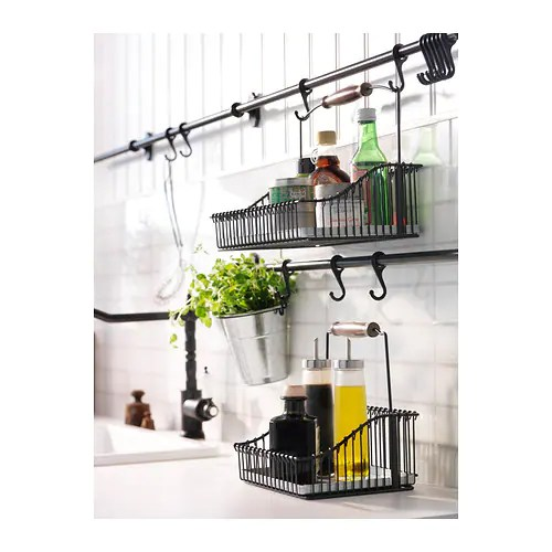 ikea kitchen hanging storage FINTORP Rail Black 79 cm - IKEA