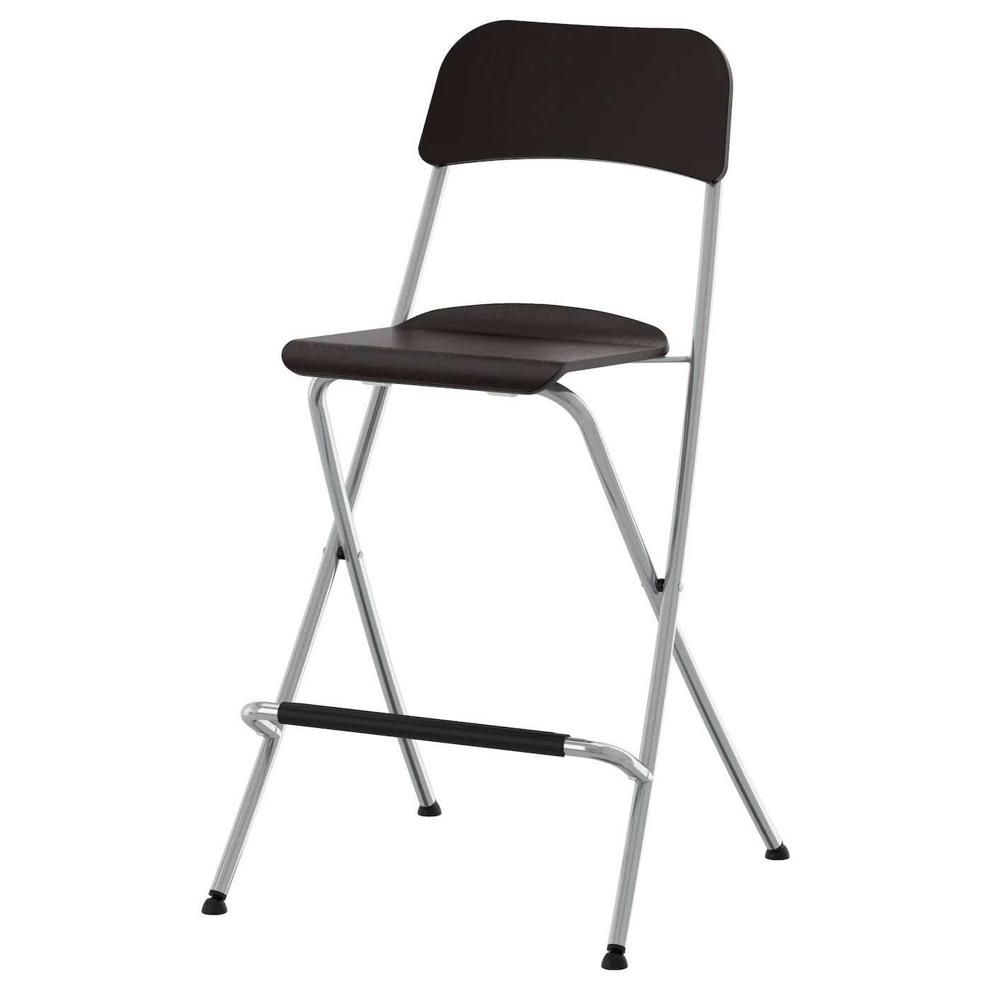 ikea foldable chairs memory foam kitchen chair pads franklin bar stool with backrest brown black