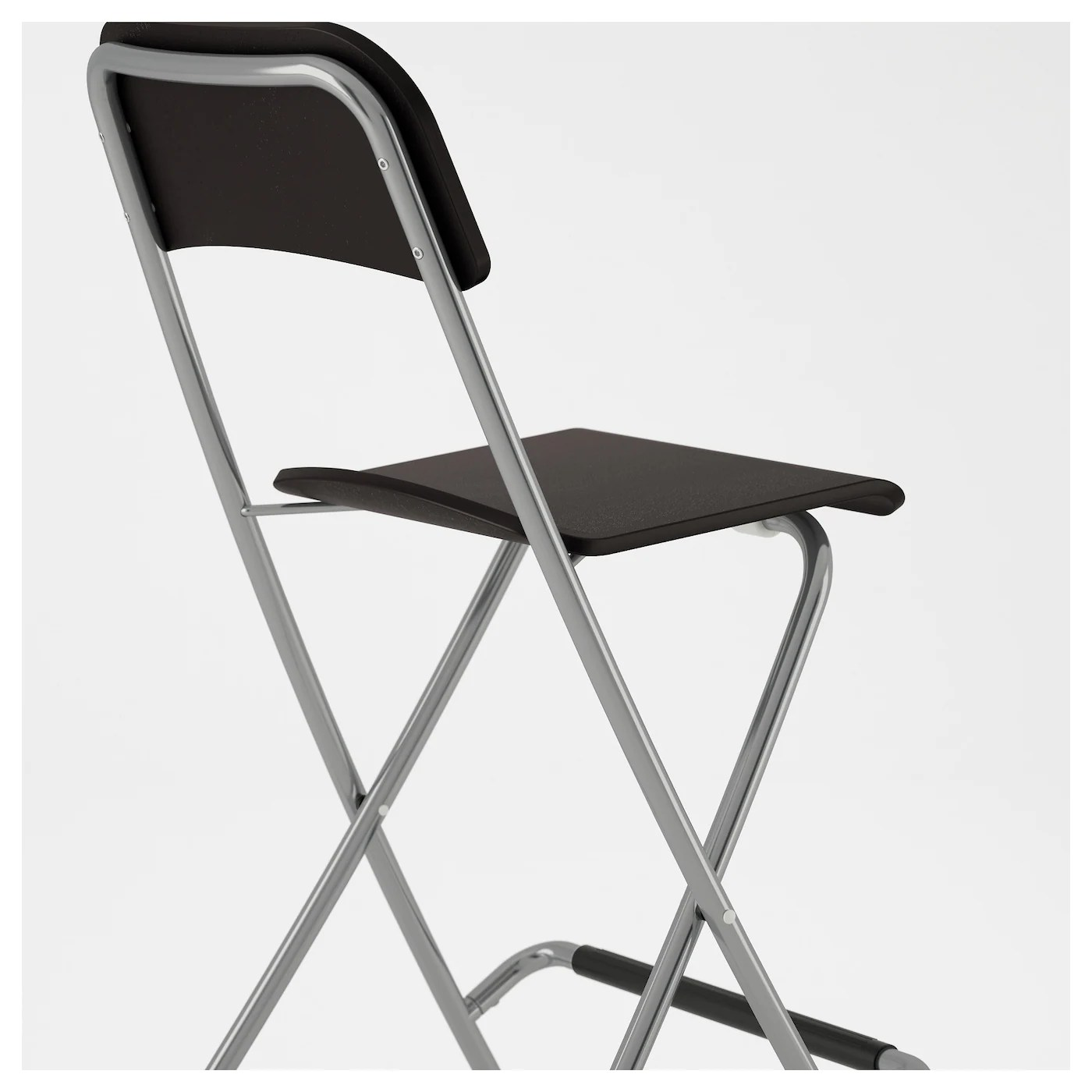 folding chair ikea repair garden chairs franklin bar stool with backrest foldable brown black
