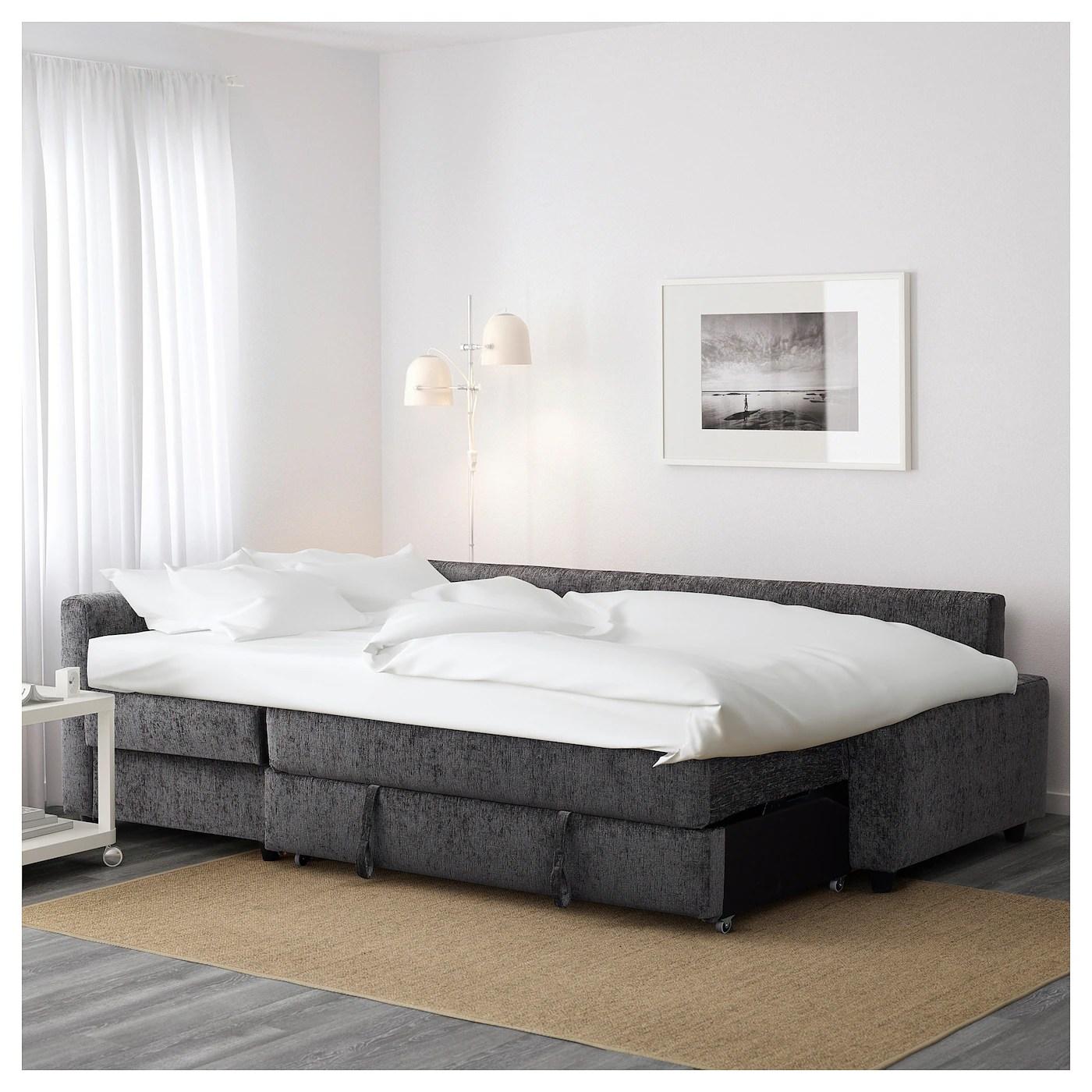 friheten corner sofa bed skiftebo beige chesterfield london with storage dark grey ikea