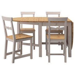Grey Table And Chairs Lightweight Camping Gamleby 4 Light Antique Stain 67 Cm