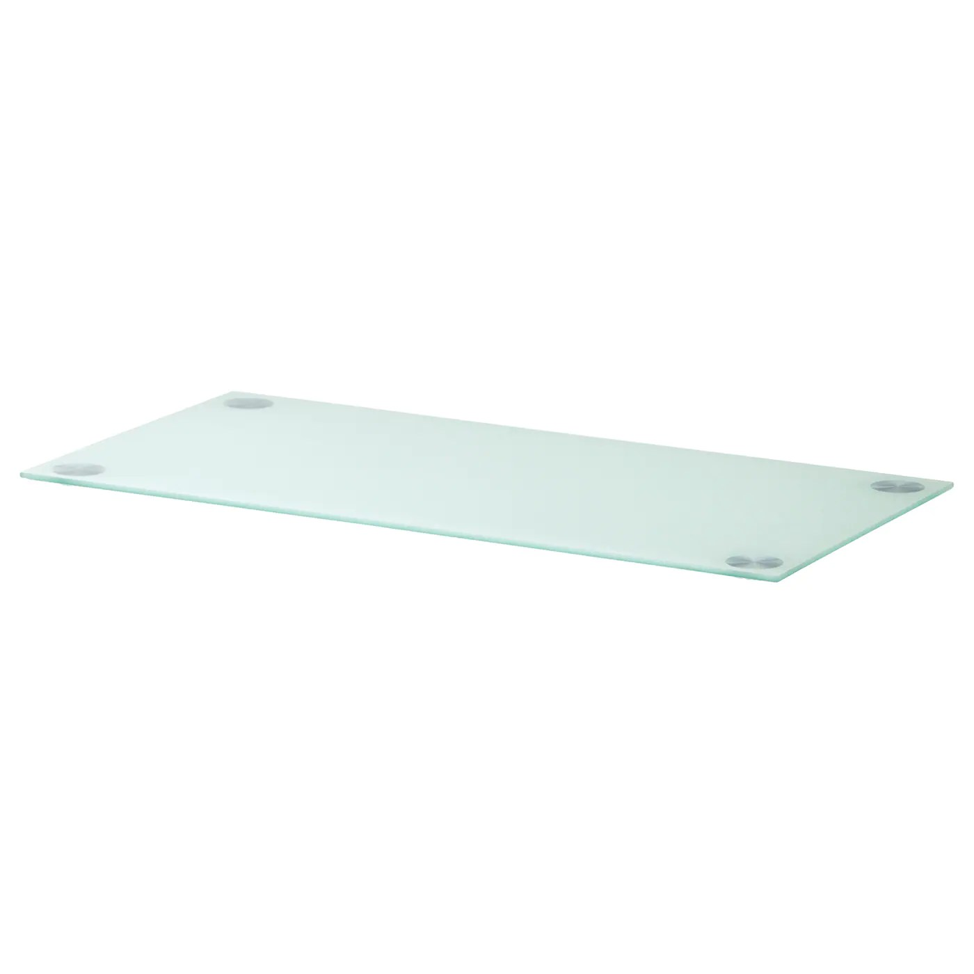 GLASHOLM Table top Glass/white 99x52 cm