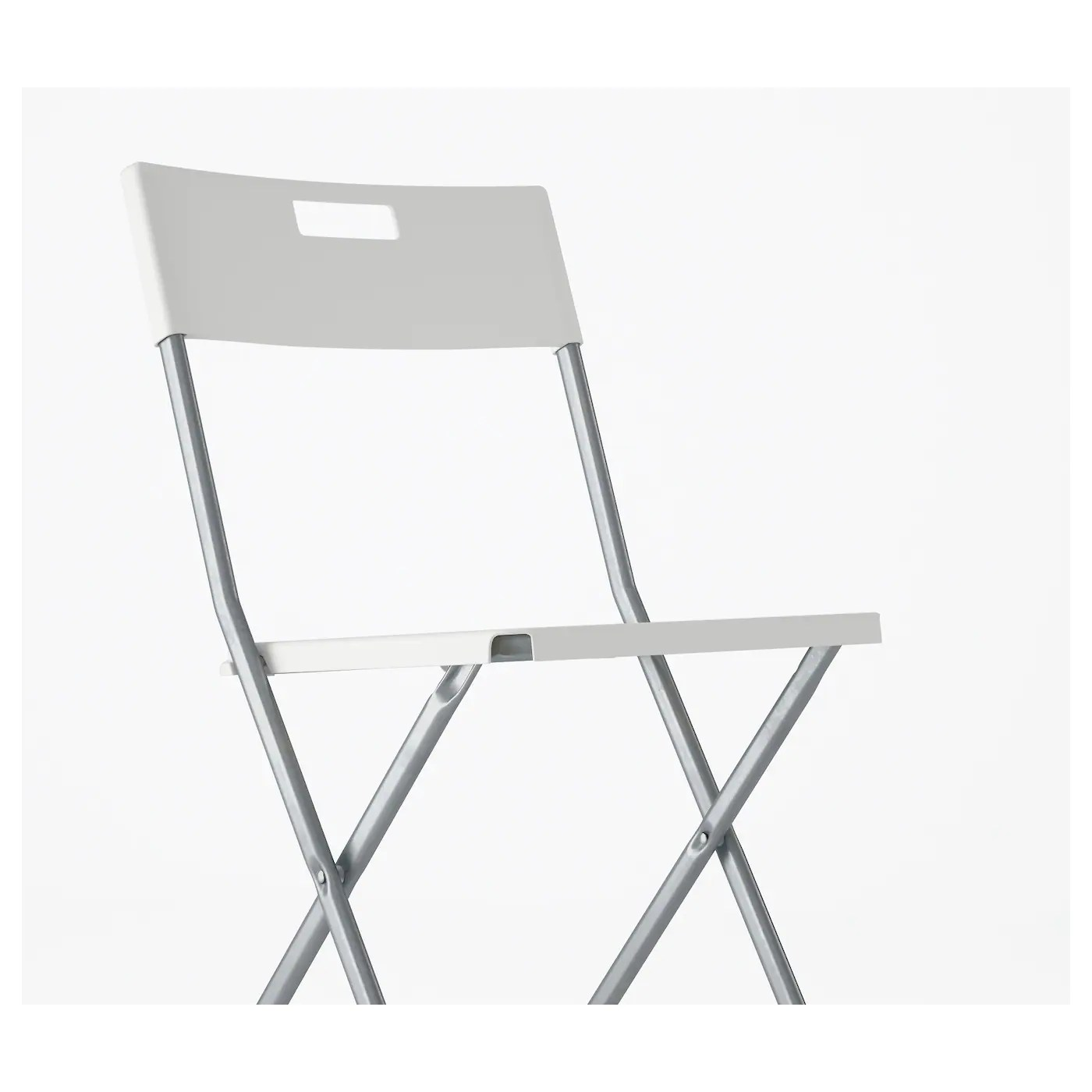 folding chair for less pier one wicker chairs gunde white ikea