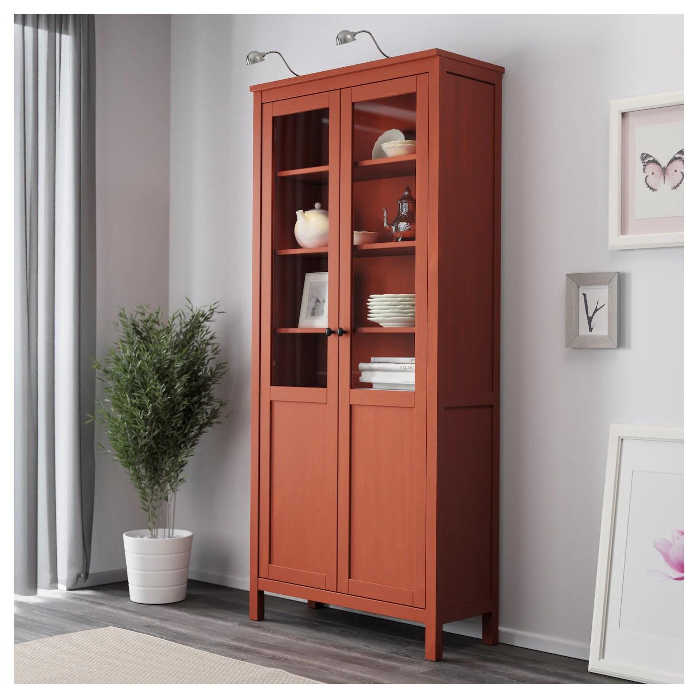 IKEA Hemnes Cabinet With Glass Panel Door