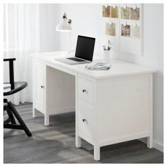 Ikea Computer Chairs Round Chair Couch Hemnes Desk White Stain 155 X 65 Cm