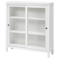 HEMNES Glass-door cabinet White stain 120 x 130 cm - IKEA
