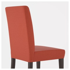Ikea Orange Chair Covers Picnic Time Folding Sports With Side Table Henriksdal Dark Brown Skiftebo