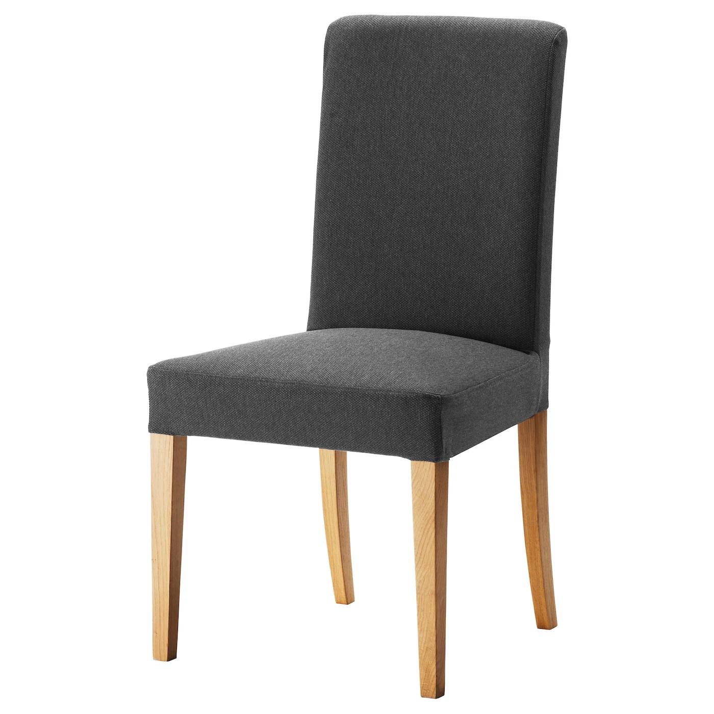 Henriksdal Chair Dansbo Dark Grey Width 51 Cm Ikea Ireland