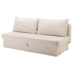 Sofa Chair Bed Ikea Teak Chairs Himmene Three Seat Lofallet Beige