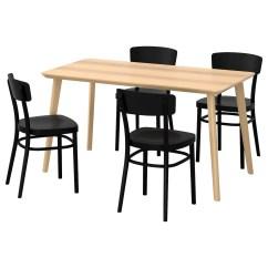 Black Table And Chairs Ergonomic Drafting Chair Reviews Idolf Lisabo 4 Ash Veneer 140 X 78