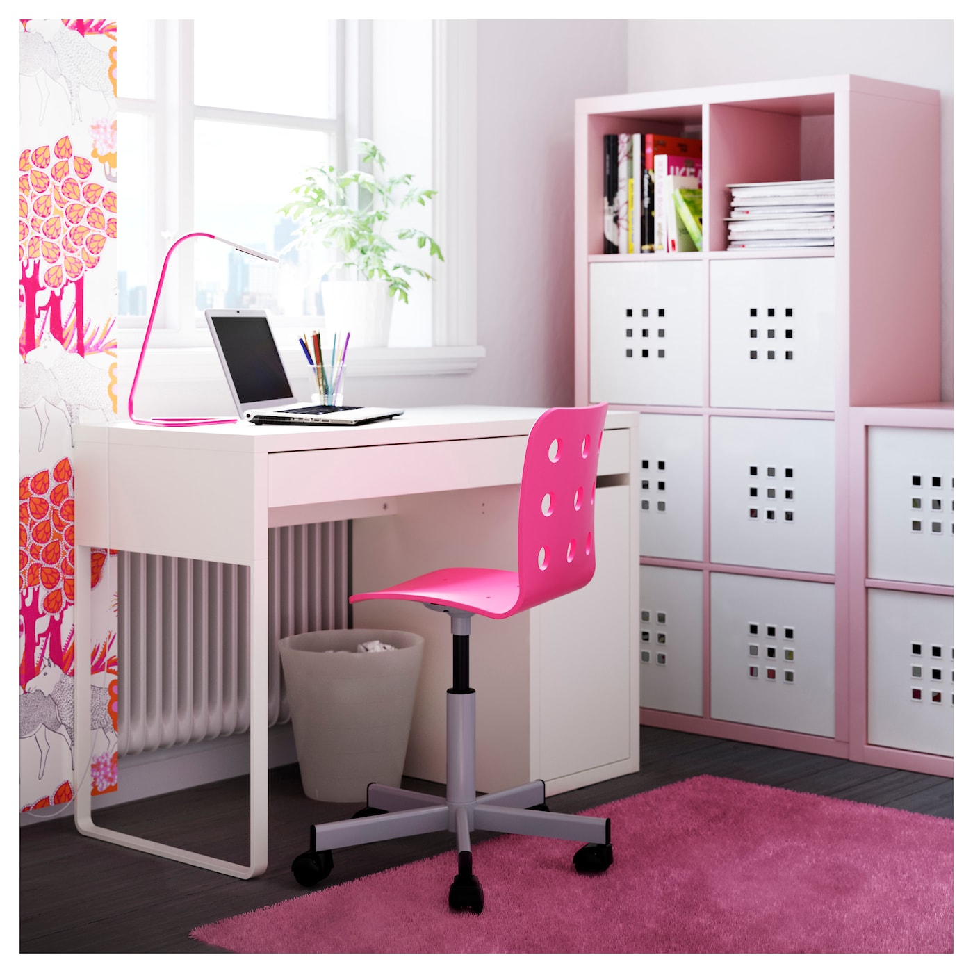 ikea junior desk chair ergonomic accessories jules pink silver colour