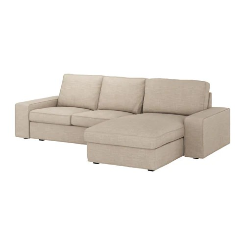 KIVIK 3 Seat Sofa With Chaise Longuehillared Beige IKEA