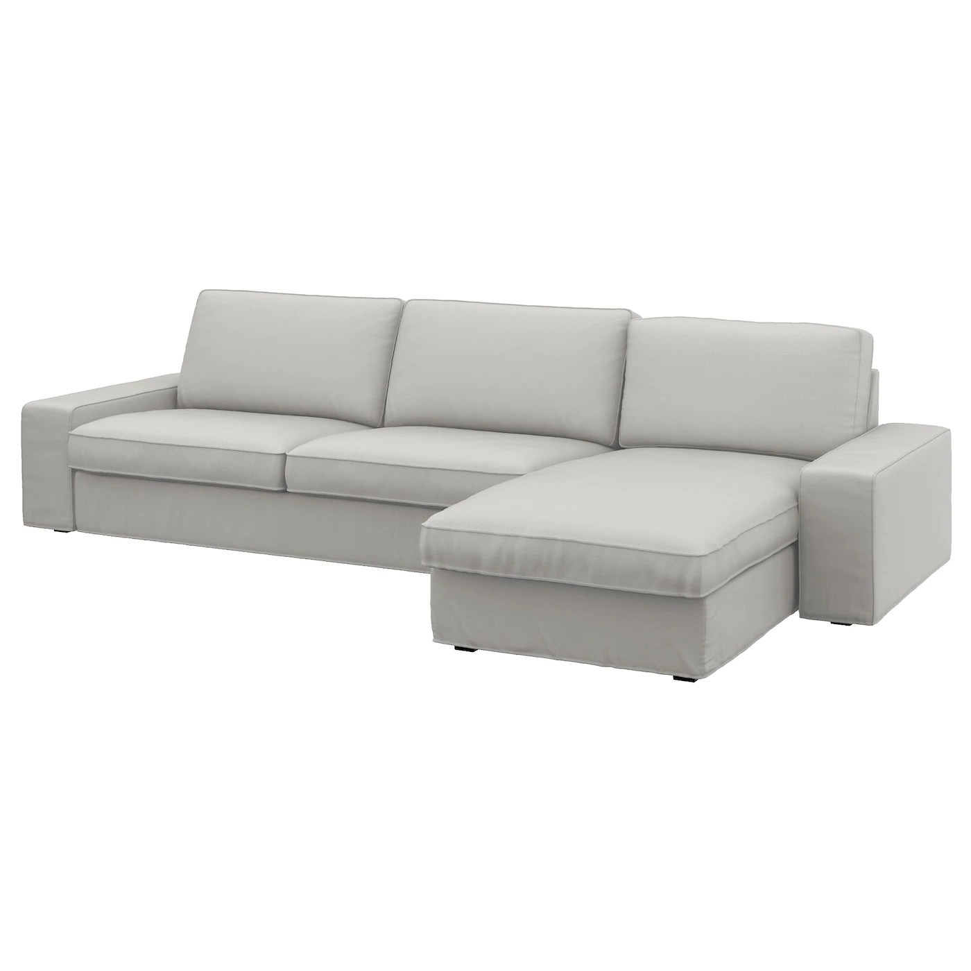 sofa chair ikea target patio chairs folding kivik 4 seat with chaise longue ramna light grey