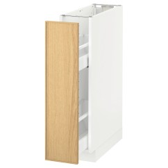 Kitchen Base Cabinet Pull Outs Commercial Supplies Metod Out Int Fittings White Ekestad Oak