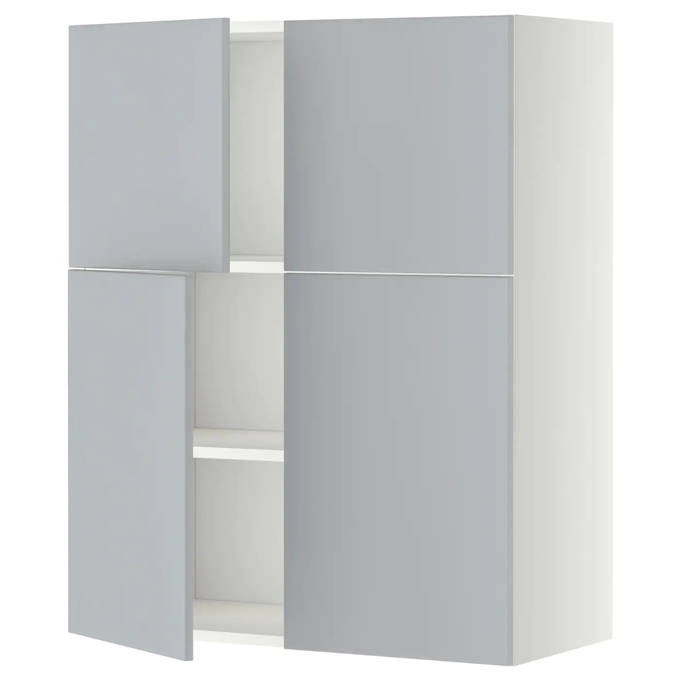 ikea kitchen cabinet doors aluminum chairs metod wall with shelves 4 white veddinge